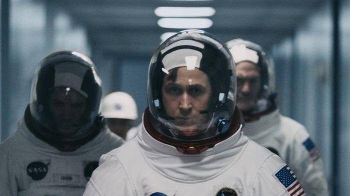 Ryan Gosling in his portrayal of Neil Armstrong in First Man