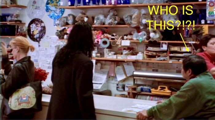 The Room flower shop scene