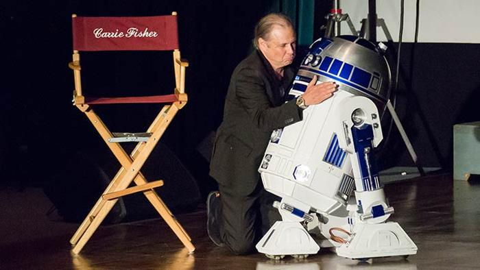 Todd Fisher and R2-D2