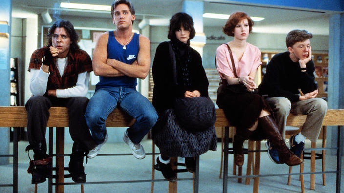 The Breakfast Club (1985) normalized Claire being sexually harassed by Bender.