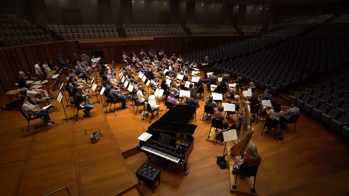 The Sydney Symphony Orchestra perform in Beijing's National Center for Performing Arts