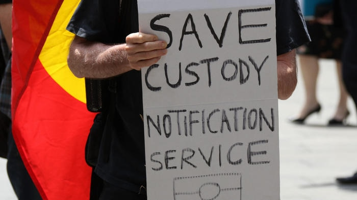 AUSTRALIA, Sydney: Protesters call for ongoing support for the Aboriginal Legal Service's Custody Notification Service (CNS)