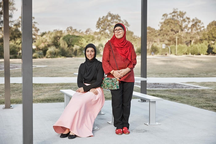 Mother and Daughter Aboriginal Muslim