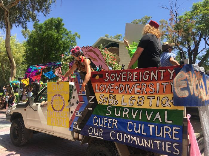 Fab-Alice paraded down the centre of ALice Springs