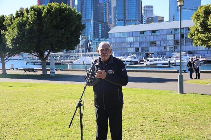 Gadigal Elder, Uncle Alan Madden opens with a Welcome to Country at Google