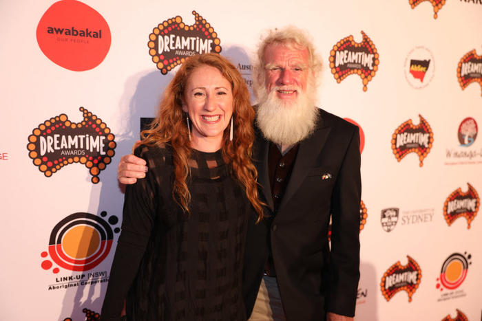 Bruce Pascoe and his daughter, Marnie at the National Dreamtime Awards