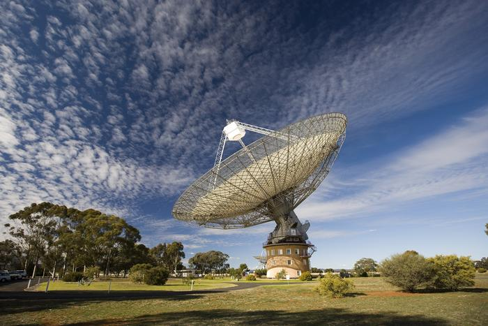 A supplied undated image of the CSIRO's radio telescope 'The Dish' near Parkes, in New South Wales. A small planet made of diamond, orbiting an unusual star has been discovered by scientists in 2009 with the CSIRO's radio telescope, Friday, Aug. 26, 2011.