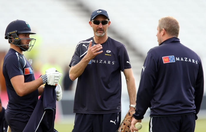 Yorkshire head coach Jason Gillespie prior to the NatWest T20 Blast at Trent Bridge, Nottingham.. Picture date: Friday May 22, 2015. See PA story CRICKET Notts. Photo credit should read: Simon Cooper/PA Wire.