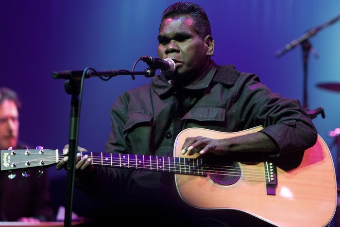 Gurrumul performed as part of the Supersense Festival at Hamer Hall in Melbourne on Saturday 8 August 2015. (AAP Image/Noise 11/Ros O'Gorman) NO ARCHIVING, EDITORIAL USE ONLY
