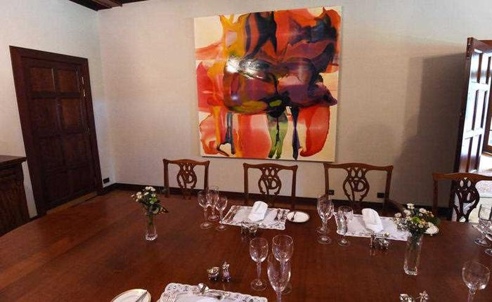 The dining room at The Lodge in Canberra