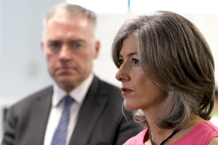 SA Health chief public health officer Nicola Spurrier speaking to the media at the new SA Health covid-19 command centre in Adelaide, Friday, March 20, 2020.  (AAP Image/Kelly Barnes) NO ARCHIVING