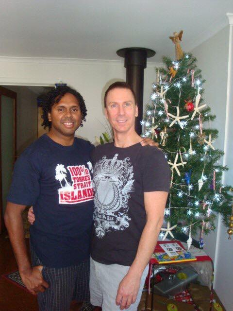 Sani Ray Townson and his partner Ross who have been together for 13 years.