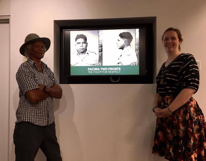 Indigenous war exhibition Facing Two Fronts at the National Archives of Australia in Darwin.
