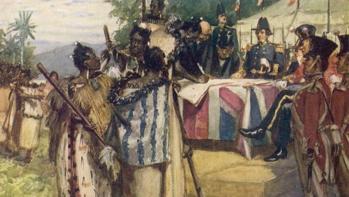 : Maori chiefs recognise British  sovereignty by signing the  Treaty of Waitangi       Date: 6 February 1840