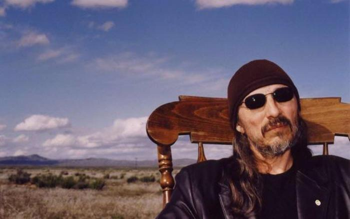 """Native American activist, musician and poet John Trudell at age 69. This image was used on the cover of """"Lines from a Mined Mind"""" published in 2008."""
