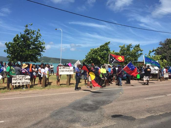 Fisheries protest in the Torres Strait