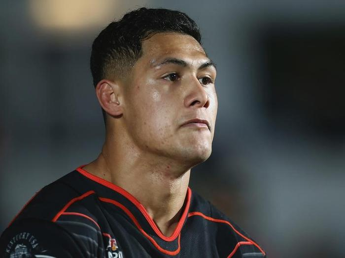 A file image of Roger Tuivasa-Sheck of the Warriors during a match.