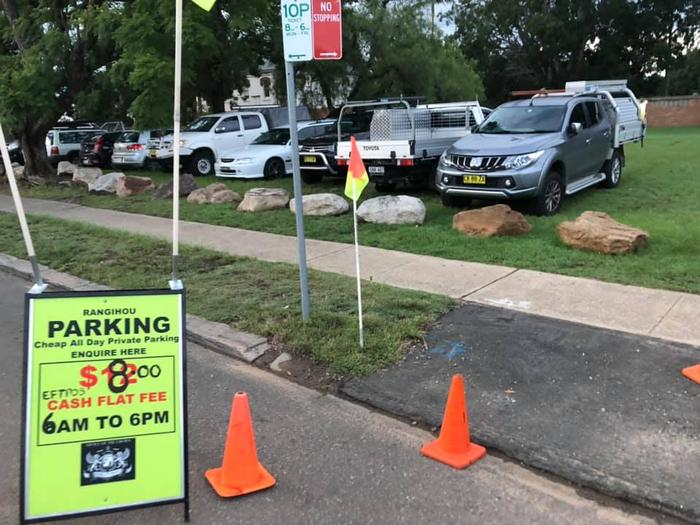 The group started charging people for parking at a local football club earlier this year before they were evicted.