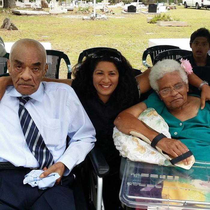 Louise Pfeffer pictured (middle) with her late Uncle Lesley Gray and late mother Zoe Pfeffer nee Gray.