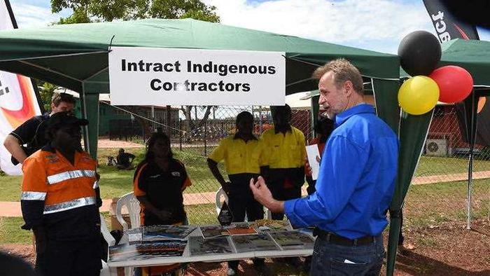 The Milingimbi community and work fair which was today attended by Senator Nigel Scullion, Minister for Indigenous Affairs.