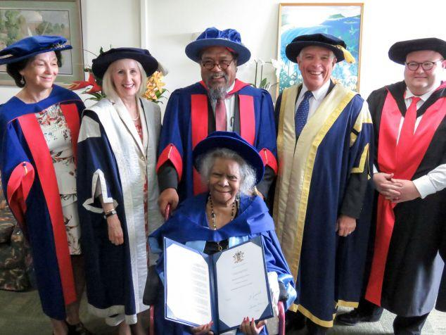 Bonita Mabo receives one of James Cook University's highest awards, an Honorary Doctor of Letters.