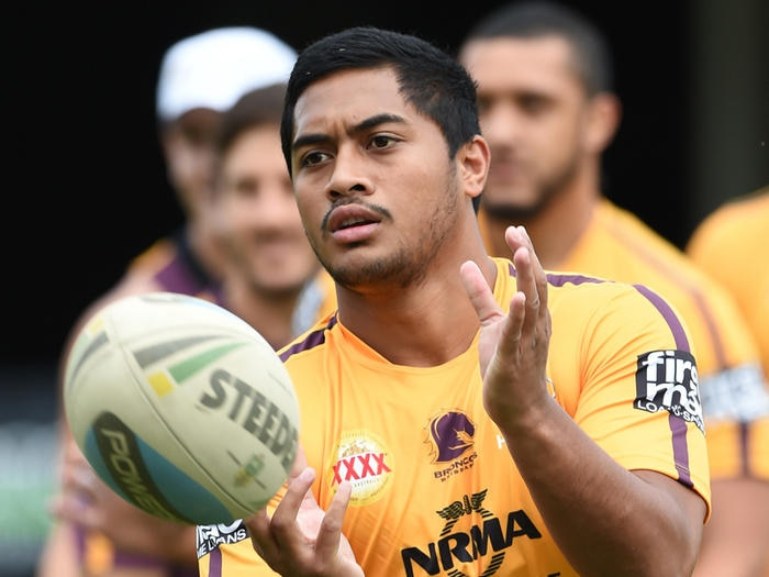 Anthony Milford during the Brisbane Broncos training session