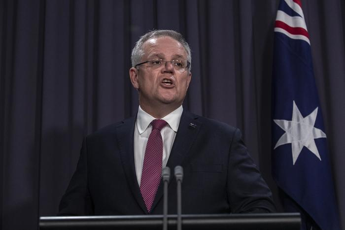 Australian Prime Minister Scott Morrison updates the nation on the latest coronavirus measures, from Canberra. Sunday, 29 March, 2020.