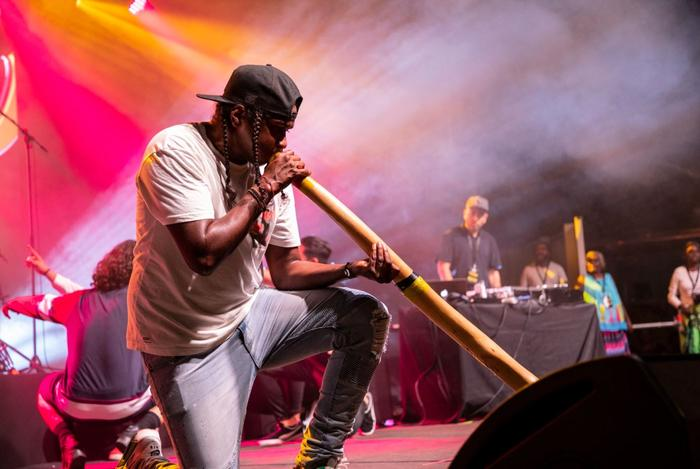 Baker Boy performs at the NIMA's in   2018