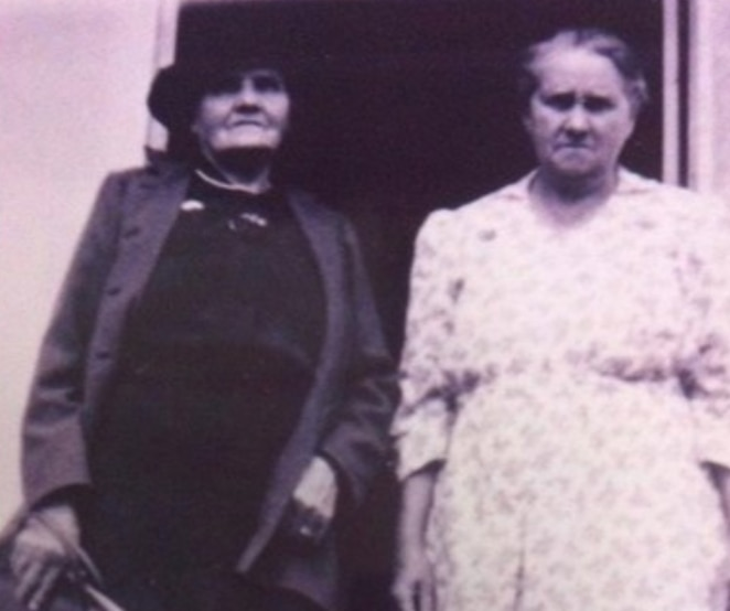 Harriet Gregory nee Kennedy (left) from Dharug country, NSW.