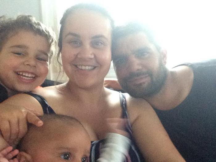 Belinda Huntriss with her family