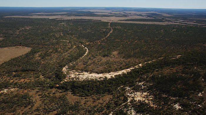 A supplied photo, taken July 5, 2012, of the Galilee basin in central Queensland, where the Adani mine is proposed to be built