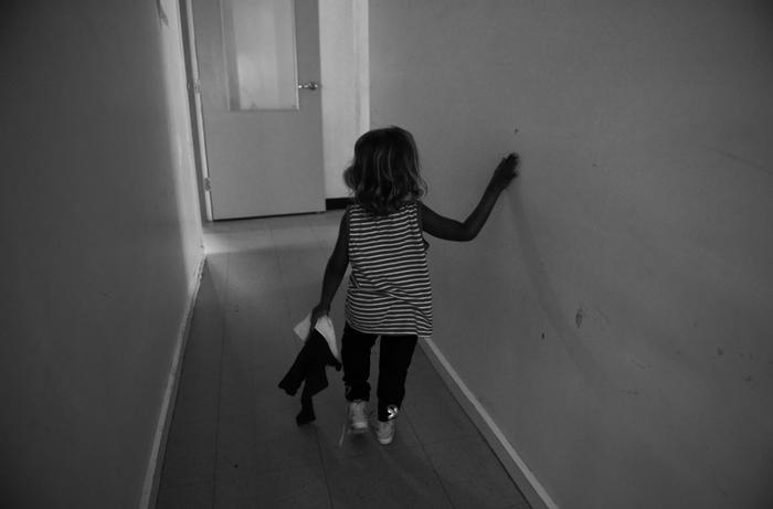A child at the Alice Springs Women's Shelter