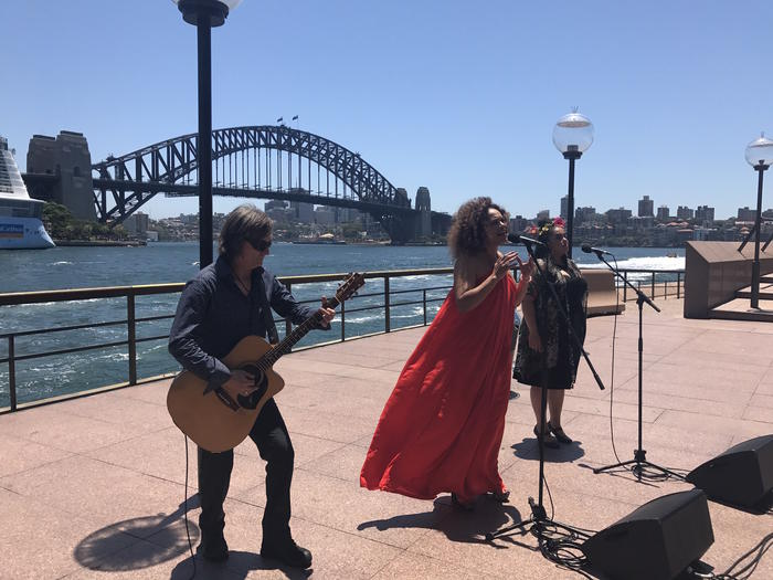 """Christine Anu performs My Island Home at Circular Quay for NITV""""s new Anthem Series"""