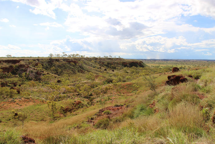 A valley in Goondiandi Country in the East Kimberley.