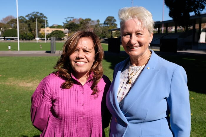 Sydney mayoral candidate Yvonne Weldon and Dr Kerryn Phelps AM