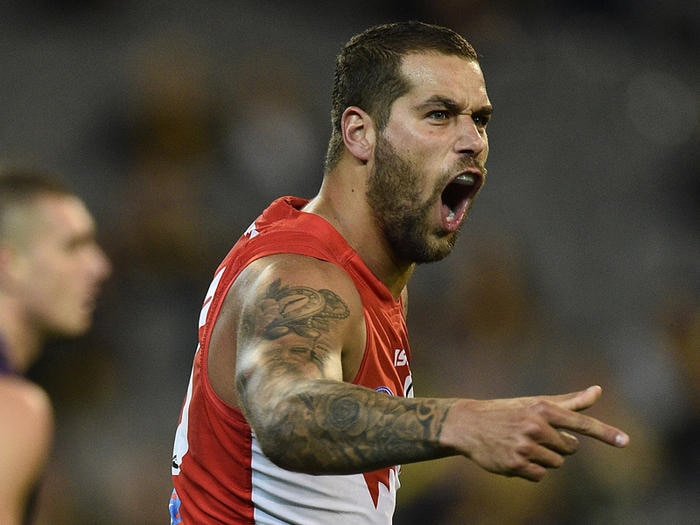 Lance Franklin of the Swans
