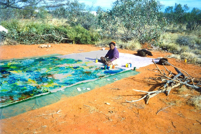 Emily Kame Kngwarreye painting 'Earth's Creation I'.