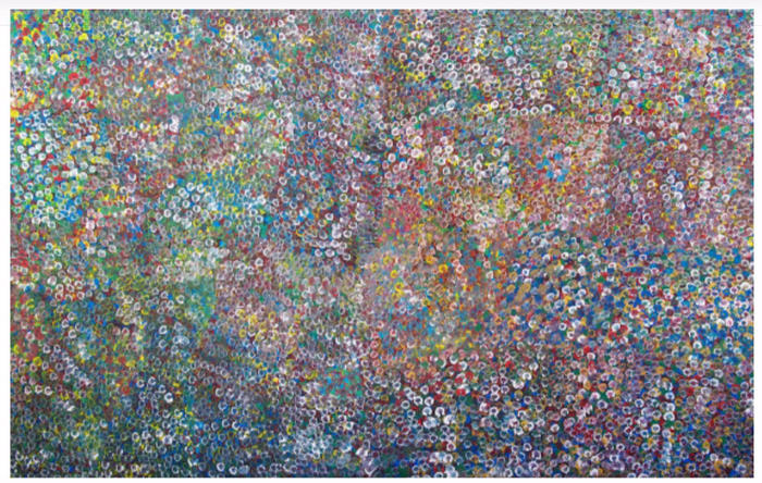 'Wild Flowers' (1995) by Emily Kame Kngwarreye (c1910-1996). Estimated sale price: $90-130,000.