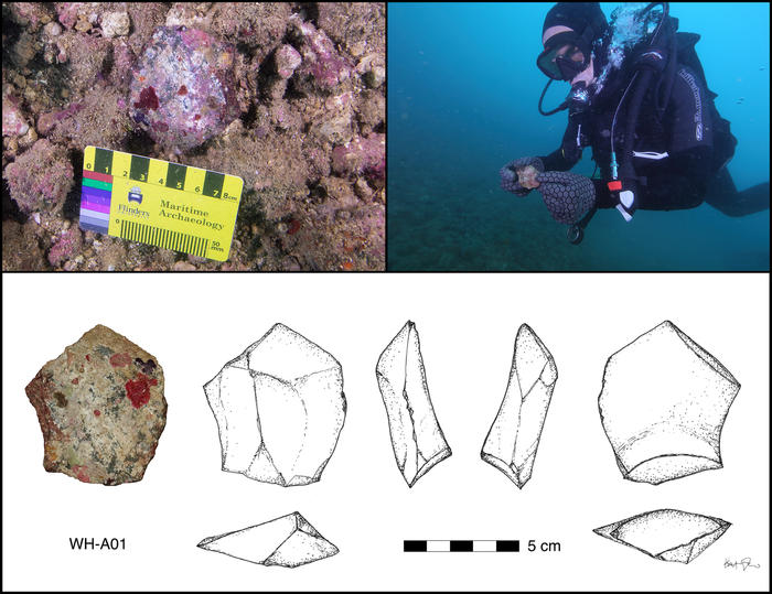 An ancient artefact was recoevered from Flying Foam Passage, Western Australia.