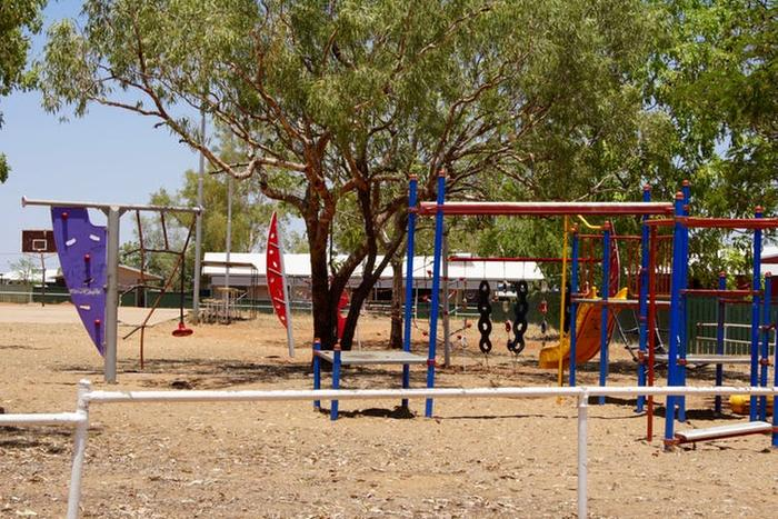 Improvements have been delivered to remote communities, like this playground in the East Kimberley region, but much work remains to be done.