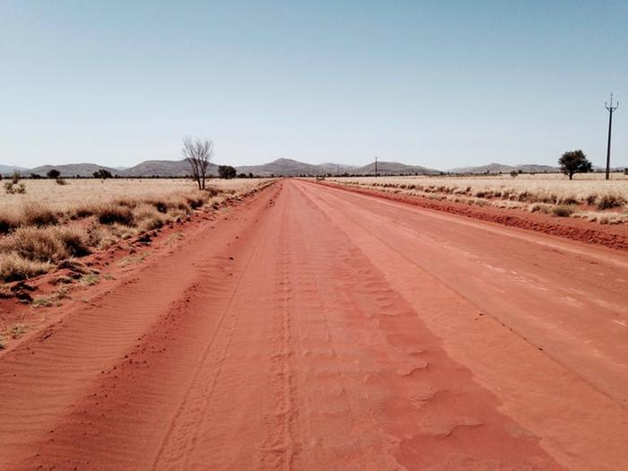 On the road to the APY Lands in South Australia.