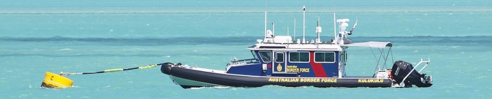 NITV only: A new ABF vessel moored off Thursday Island.