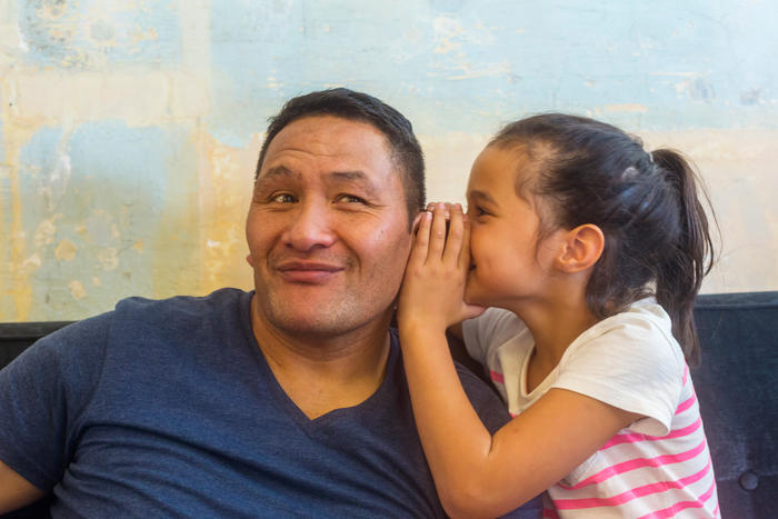 Maori father and daughter