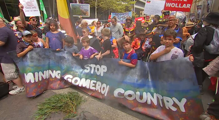 Gomeroi people protest against mining their country