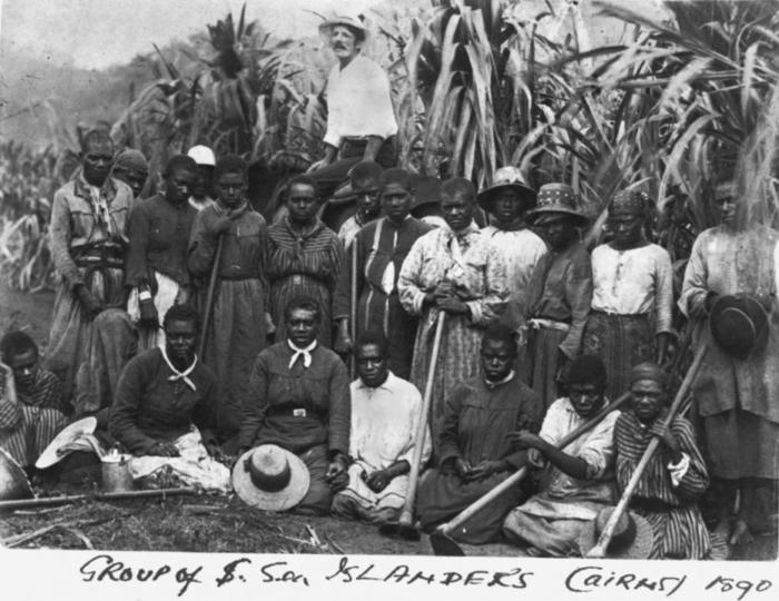 Archival Image: 'Group of South Sea Islanders Cairns 1890' Source: State Library of Queensland