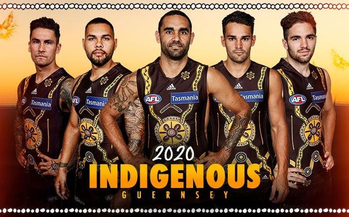 The 2020 Hawthorn Football Club's Indigenous round guernsey.