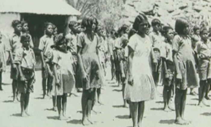 File photo of members of the Stolen Generations