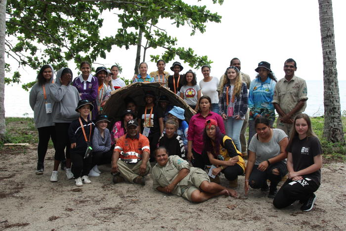 Students on the CSIRO Young Indigenous Womens' STEM Academy camp in Cairns