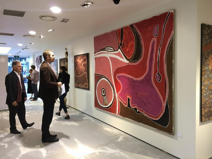 Cooee Art VIP Auction Launch in Sydneys' Oxford Street.