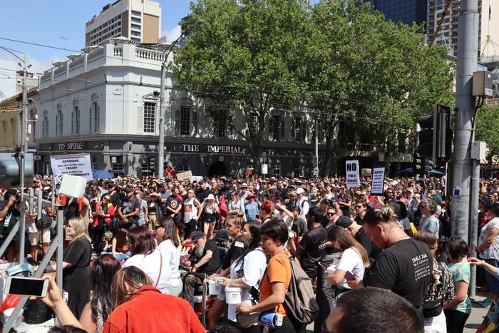 The crowd at Victoria Invasion Day rally